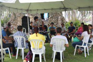 Class meets at Sagrado outdoors